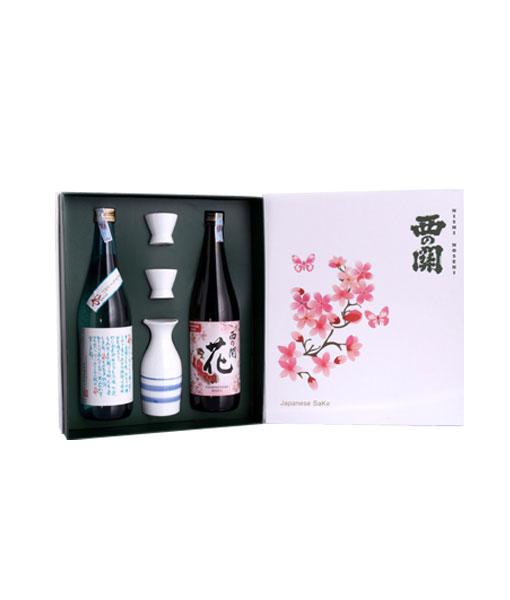 Mở hộp rượu Sake Nishino Seki hộp quà tết 2021 - Set 4