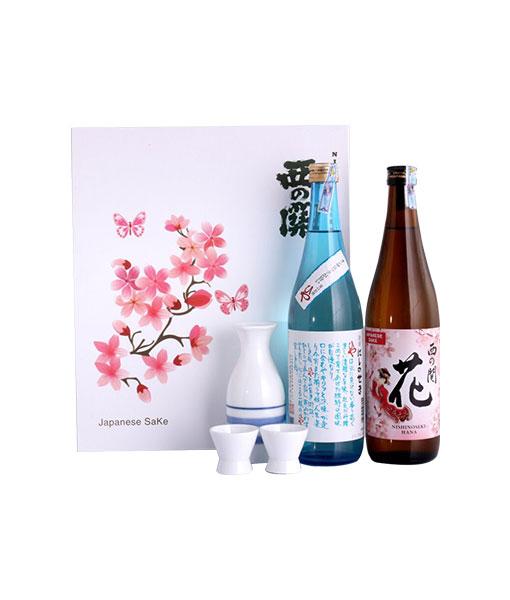 Rượu Sake Nishino Seki hộp quà tết 2021 - Set 4