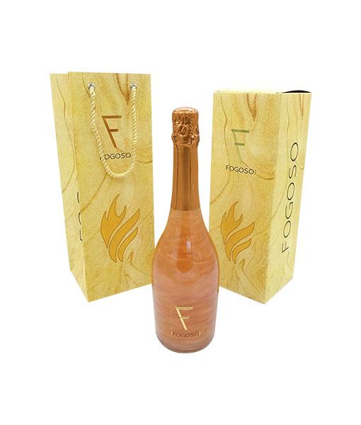 Rượu Vang Nổ Fogoso Bronce hộp quà tết 2021 cho biếu tặng