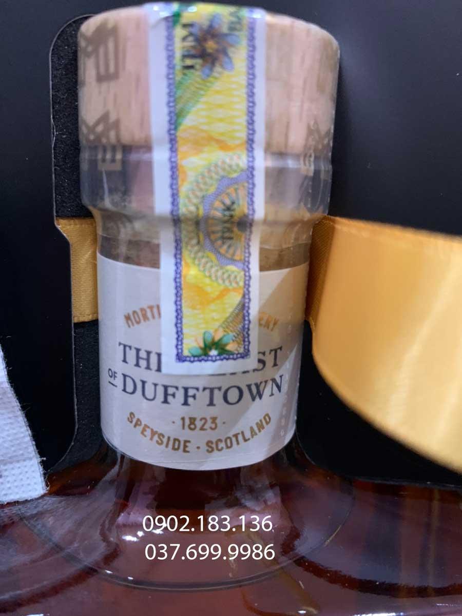 Tem nhập khẩu của rượu Mortlach 12 năm hộp quà tết 2021