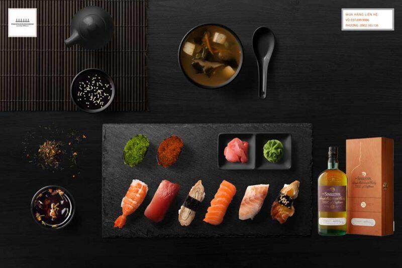 Thưởng thức rượu Singleton 21 năm Dufftown với Sushi