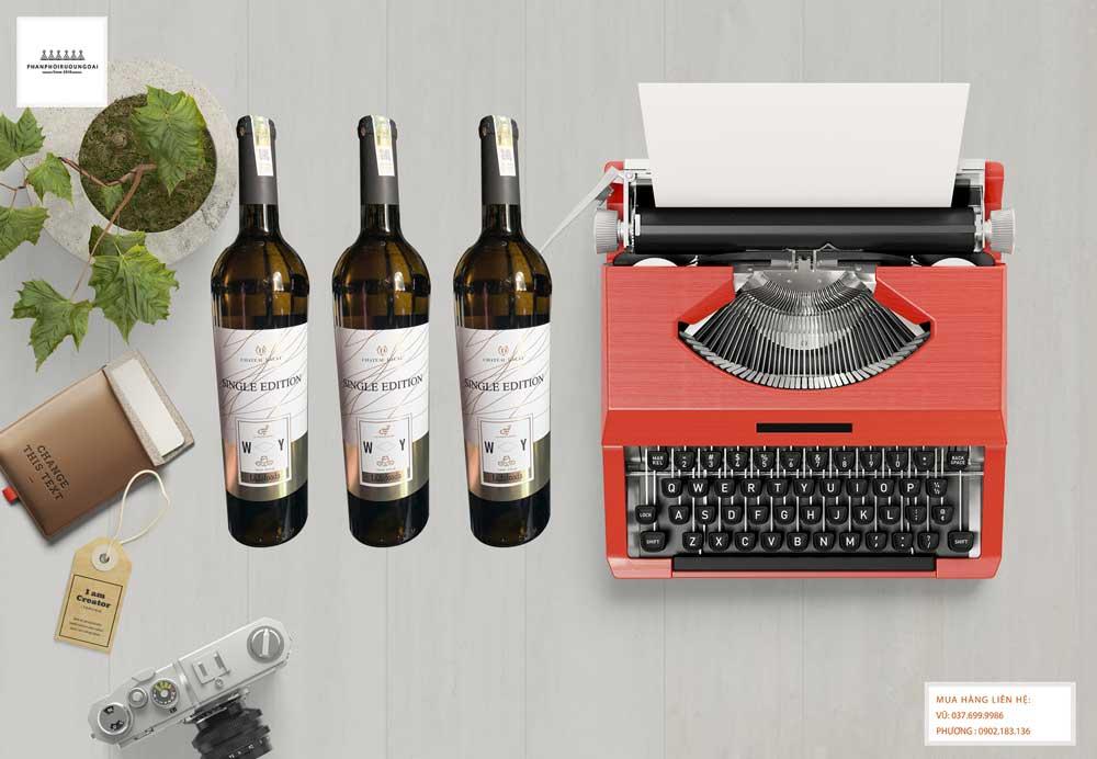 Ảnh Rượu vang Chateau Dalat Single Edition Sauvignon Blanc