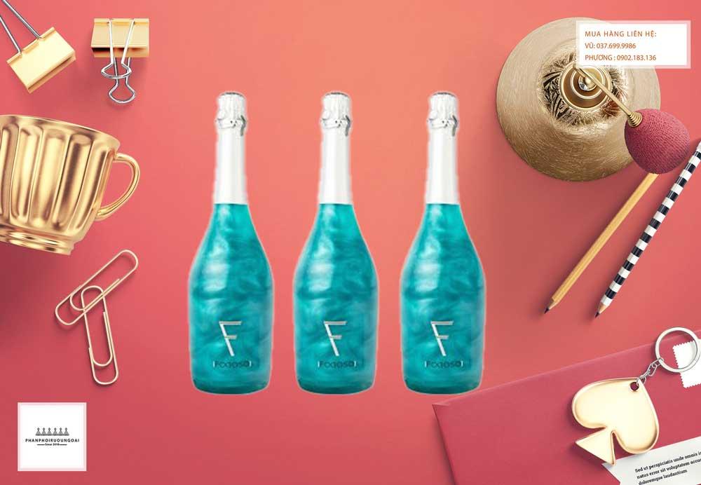 Ảnh Rượu vang Nổ Fogoso Azul xanh món quà tết độc đáo cho năm 2021
