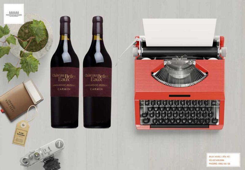 Ảnh Rượu vang Pháp Chateau Belles Eaux Carmin