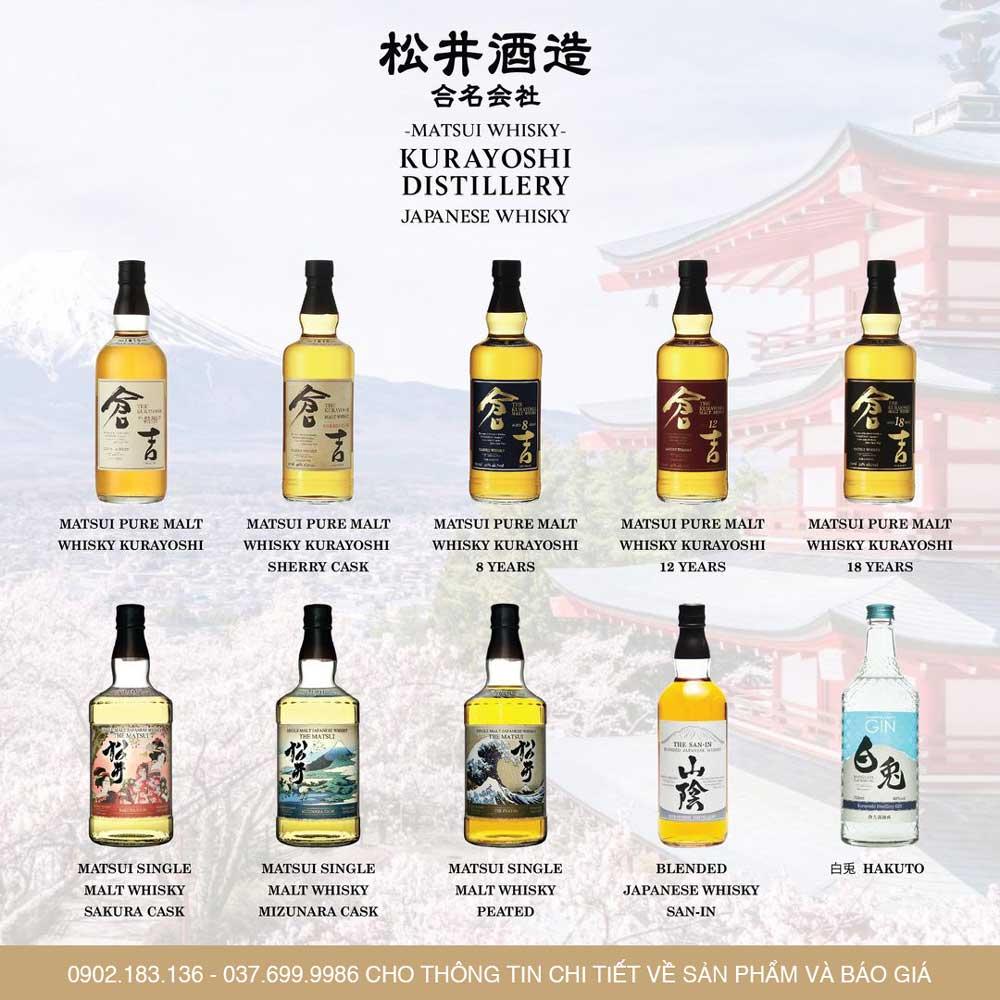 Các dòng sản phẩm của nhà Matsui Nhật Bản