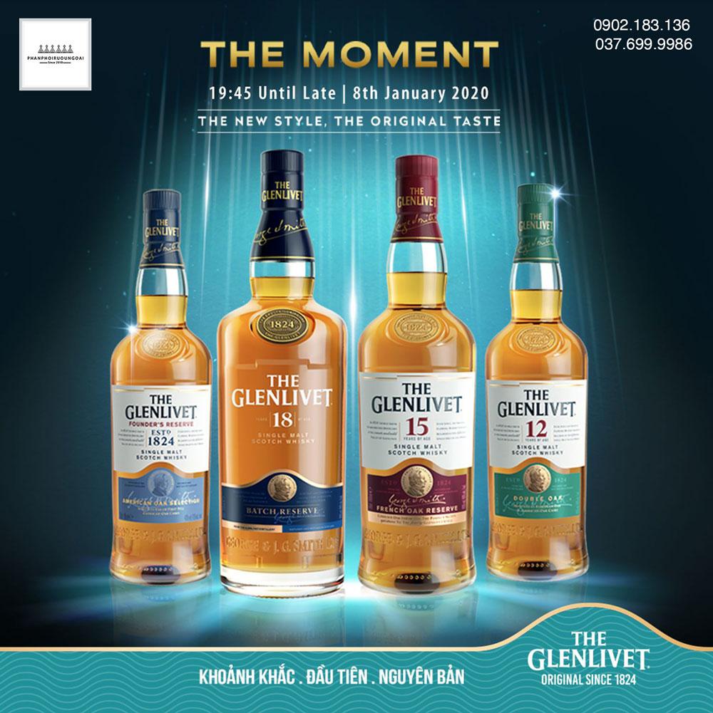 Các loại rượu The Glenlivet cho mùa tết nguyên đán 2021