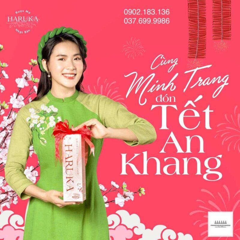 Cùng diễn viên Minh Trang đón tết với rượu Mơ Haruka 2021
