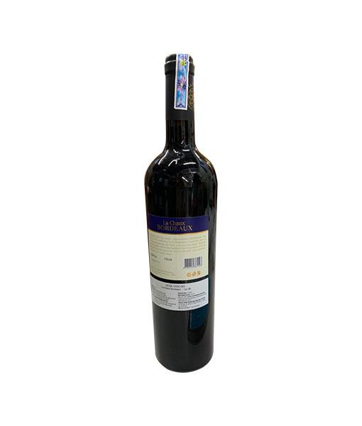 Mặt sau chai rượu vang Pháp La Chaux Bordeaux