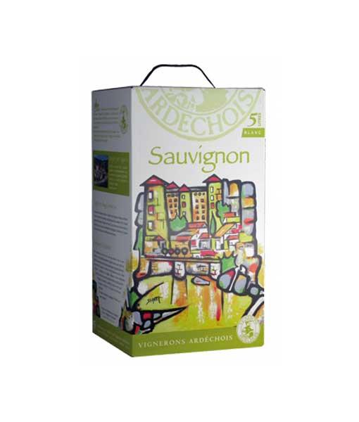 Rươu vang Bịch Pháp Ardechois Sauvignon Blanc 5L