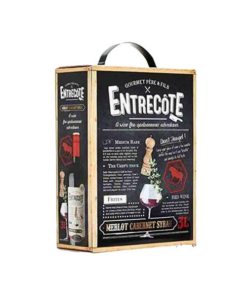 Rượu vang Bịch Pháp Entreconte Merlot Cabernet Syrah