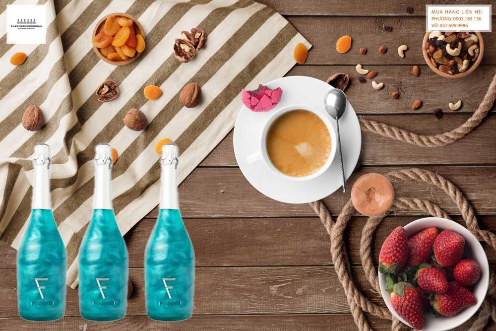 Rượu vang nổ Fogoso Azul cho bữa tiệc sang tráng miệng