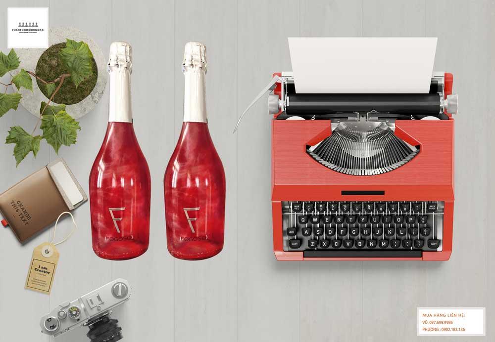 Rượu vang nổ Fogoso Rosa đỏ sang trọng và hiện đại cho mùa lễ hội 2021