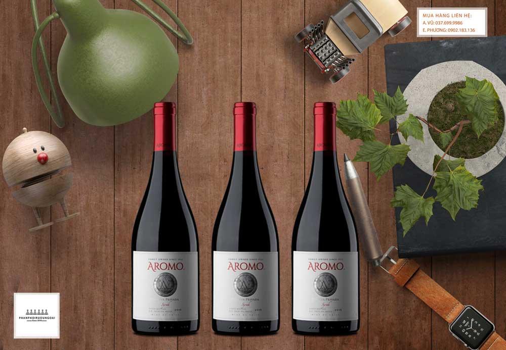 Ảnh rượu vang Chile Vina Aromo Reserva Privada Syrah