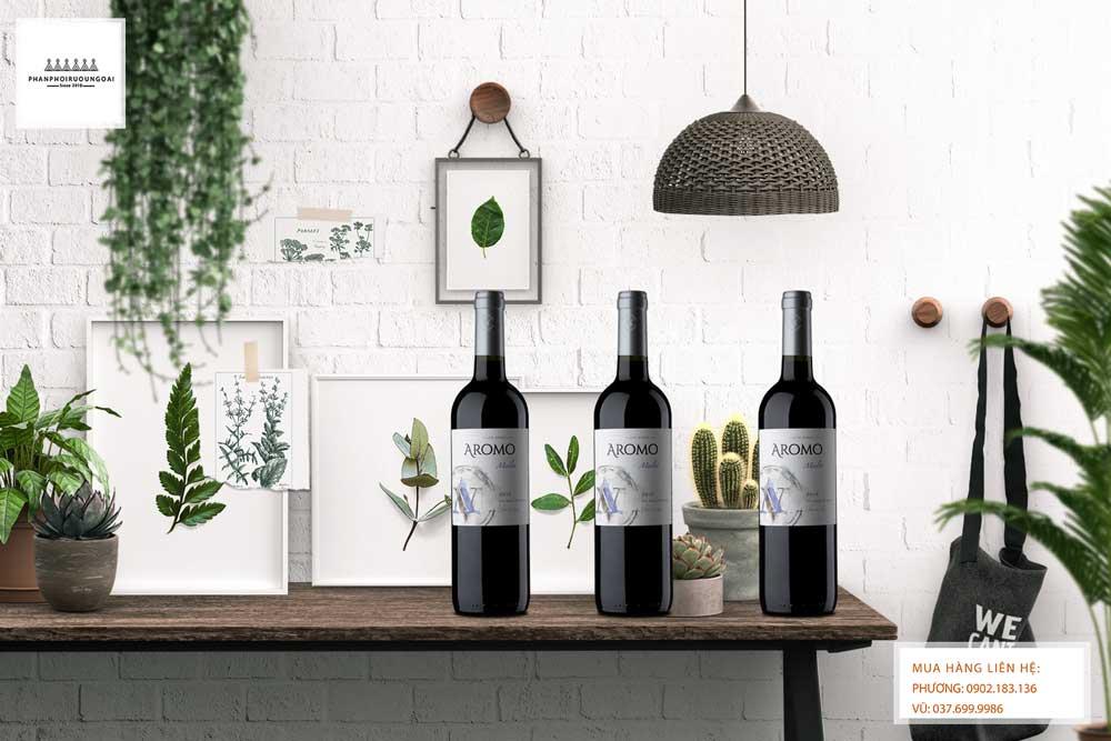 Rượu vang Chile Vina Aromo Merlot