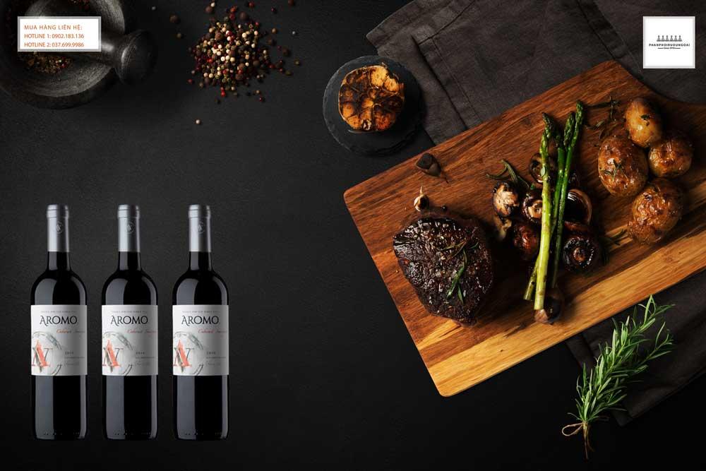 Thưởng thức rượu vang Chile Vina Aromo Cabernet Sauvignon