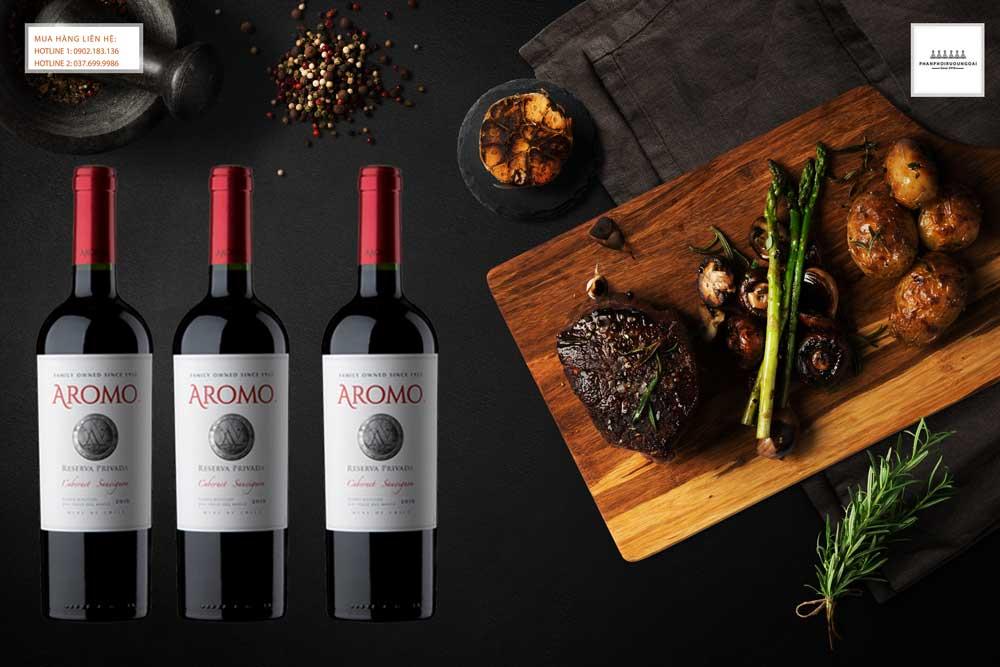 Thưởng thức rượu vang Chile Vina Aromo Reserva Privada Cabernet Sauvignon