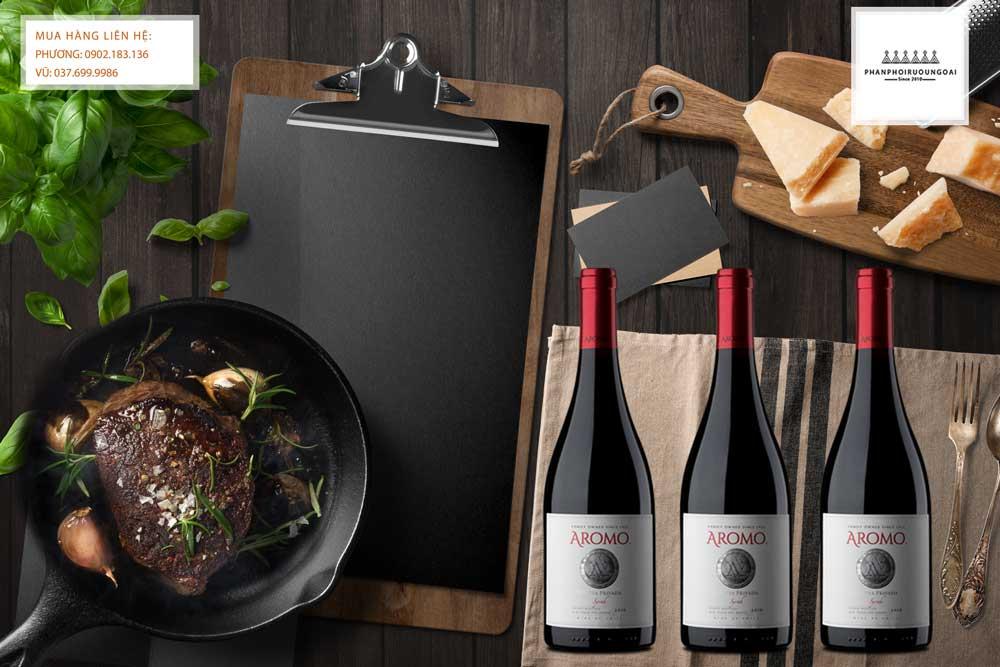 Thưởng thức rượu vang Chile Vina Aromo Reserva Privada Syrah đến từ Maule Valley