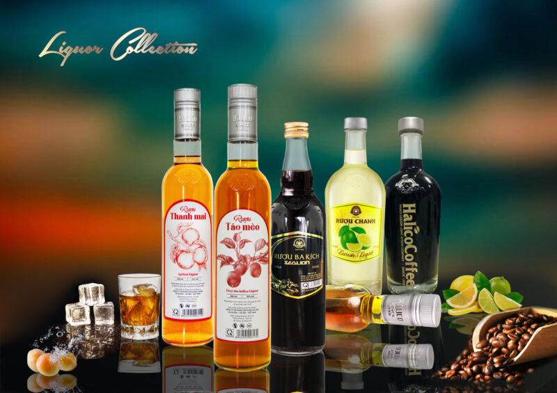 Các loại rượu của nhà máy rượu Halico