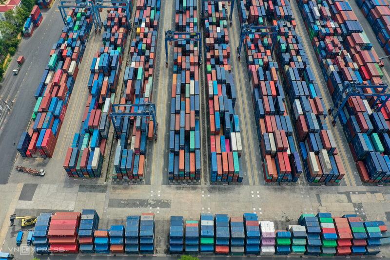 Lượng Container tại cảng biến Cát Lái