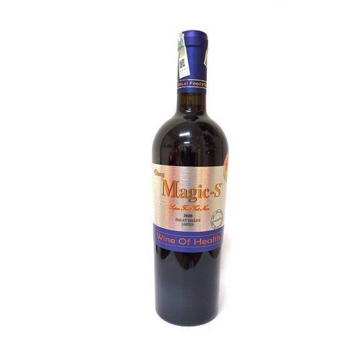 Mặt trước chai rượu vang Magic S