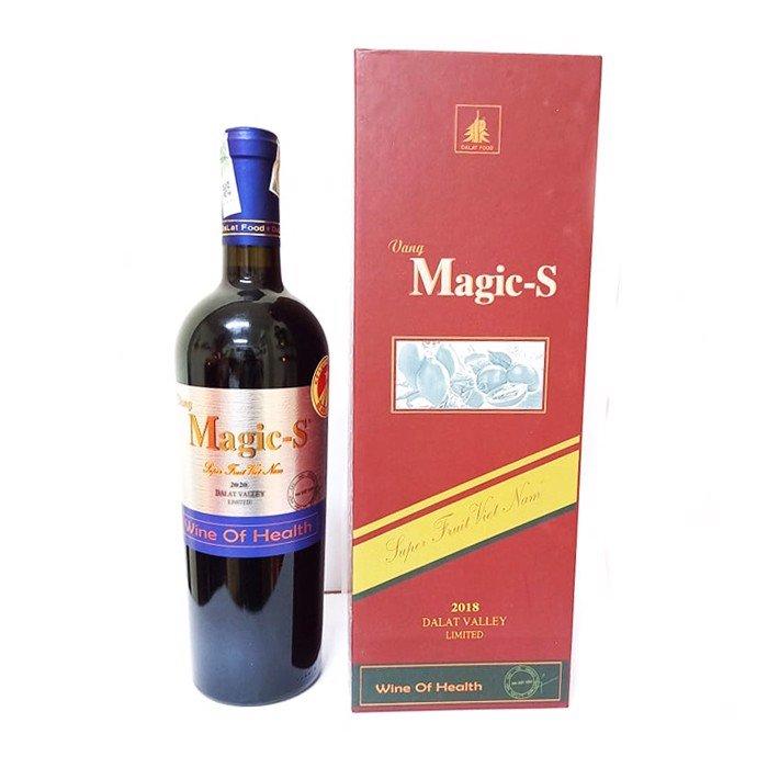 Rượu vang Magic S và hộp quà