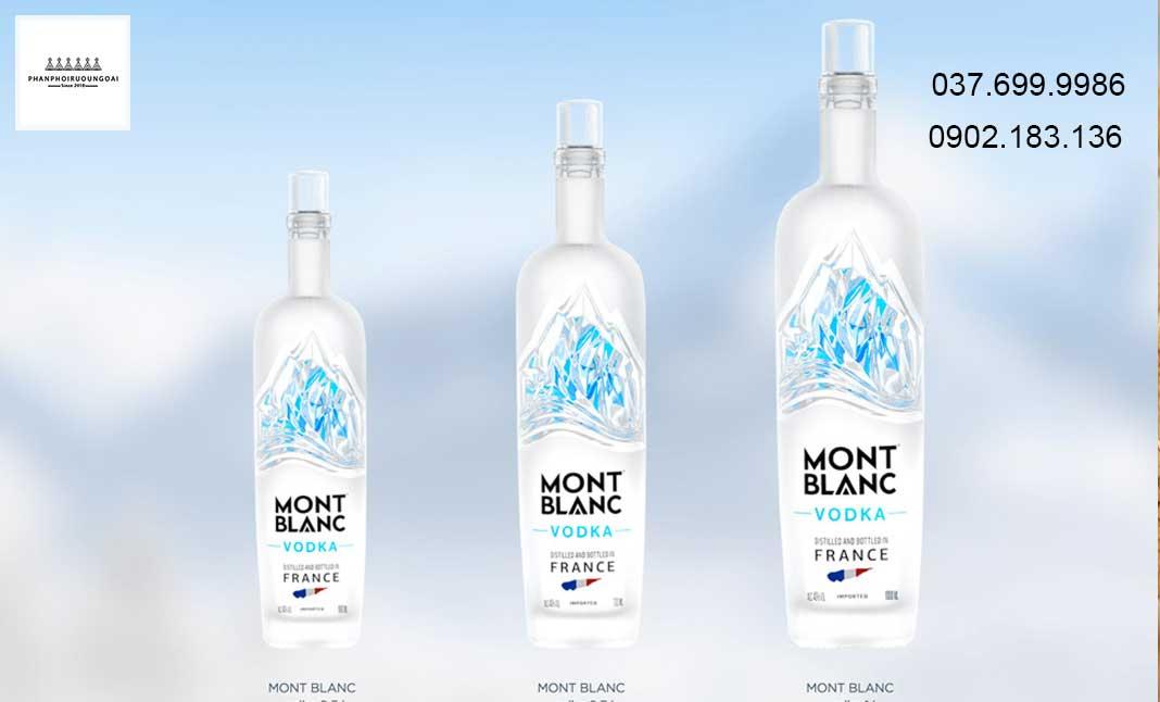 Các mẫu chai Vodka Mont Blanc