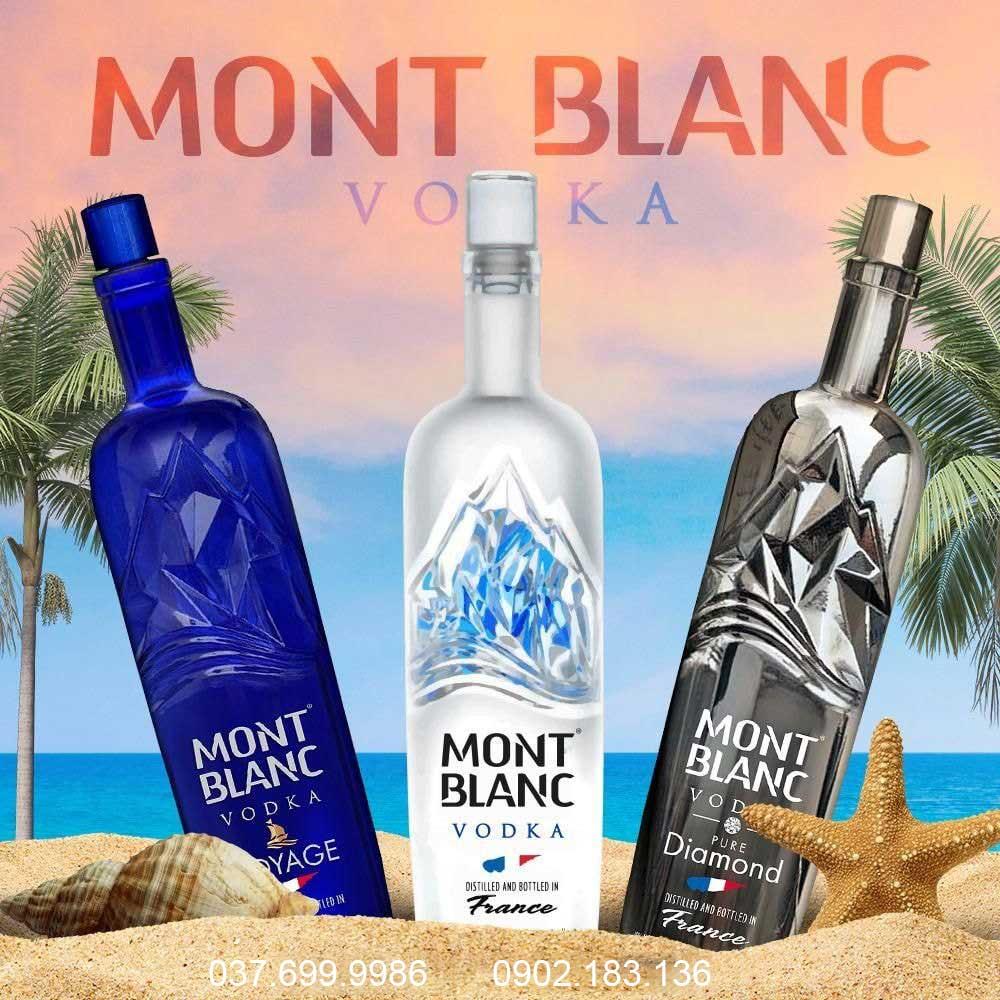 Các phiên bản rượu Vodka Pháp Mont Blanc