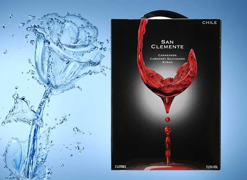 Ảnh đẹp về rượu vang bịch Chile San Clemete
