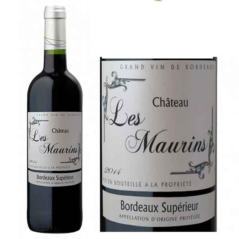Rượu vang Bordeaux Superieur Les Maurins và nhãn chai