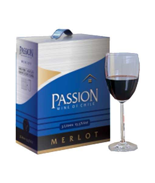 Rượu vang bịch Chile giá rẻ Passion Merlot 3 lít