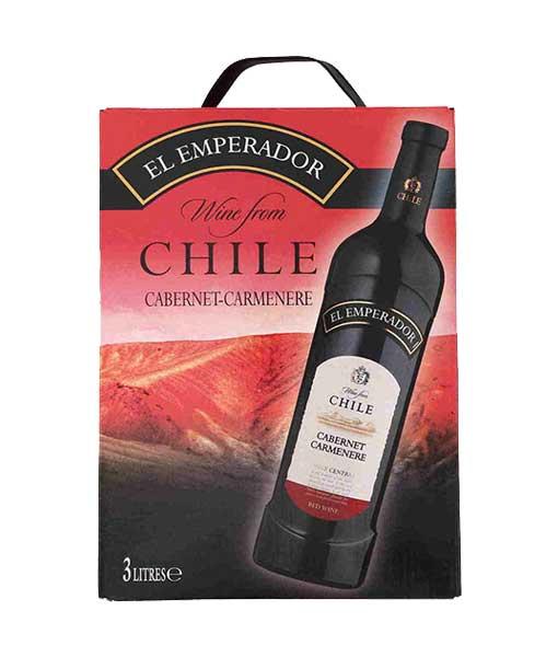 Rượu vang Bịch Chile EL Emperador Cabernet Camenere