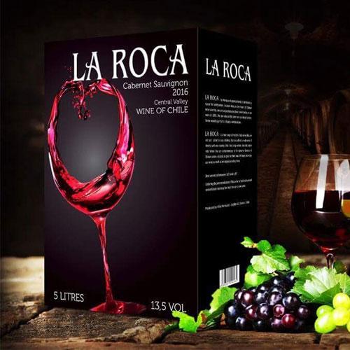 Rượu Vang Chile Bịch La Roca giá rẻ