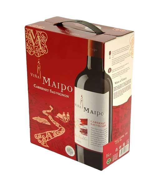 Rượu vang bịch ngon Maipo Cabernet Sauvignon 3 lít