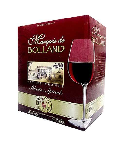Rượu vang bịch Pháp giá rẻ Marquis de Bolland
