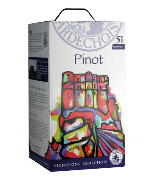 Rượu vang bịch Pháp Ardechois Pinot Noir
