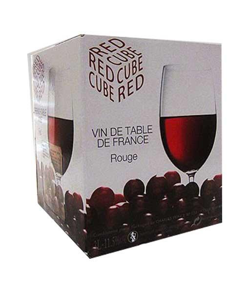 Rượu vang bịch Pháp Cube vin de Pays Merlot