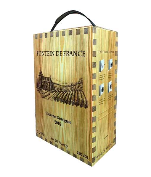 Rượu vang bịch Pháp Fotein de France 3 lít