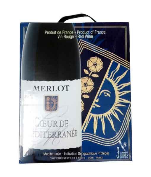 Rượu Vang Bịch Pháp Ceour de Mediterrane 3L