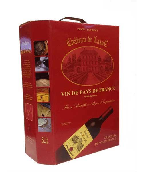 Rượu vang bịch Pháp 3 lít Vin de pay de France