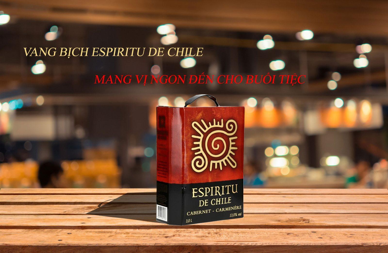 Rượu Vang Chile Bịch 3 lít Espiritu de Chile