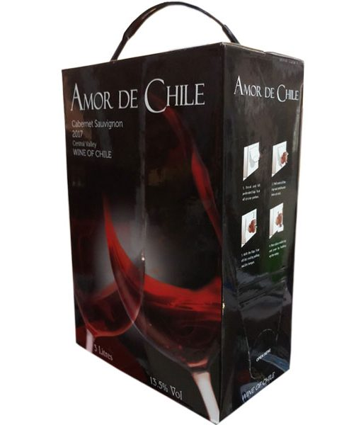 Vang Chile bịch 3 lít Amor de Chile