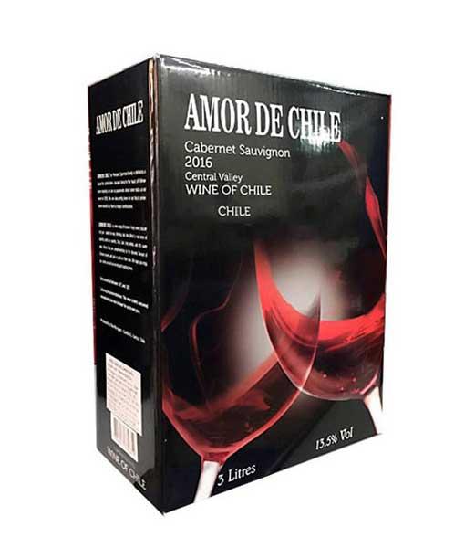 Rượu Vang Chile Bịch 3 Lít Amor De Chile