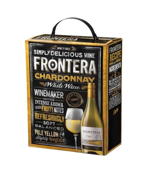 Rượu vang Chile bịch 3 lít Frontera Chardonnay