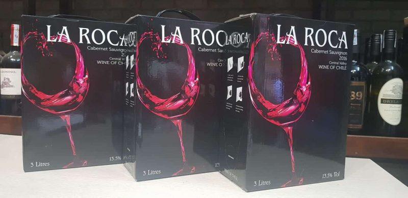 Giá rượu vang bịch Chile 3 lít La roca
