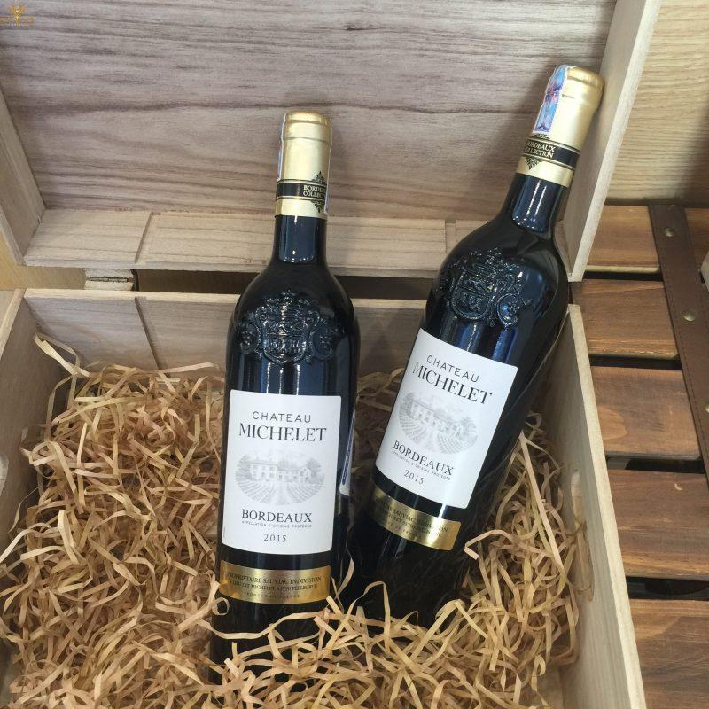 Rượu vang Pháp giá rẻ Chateau Michelet Bordeaux