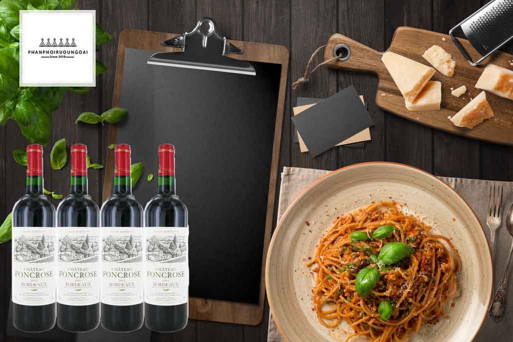 Rượu vang Pháp Chateau Foncrose đến từ Bordeaux
