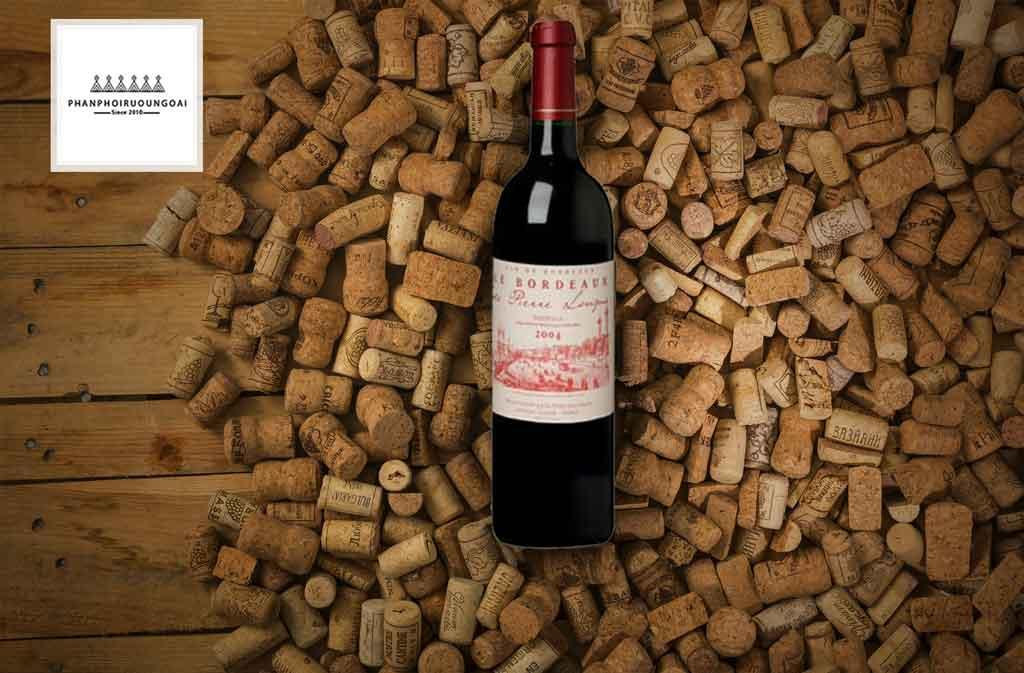 Rượu vang Pháp giá rẻ Bordeaux de Pierre Longue và nút chai