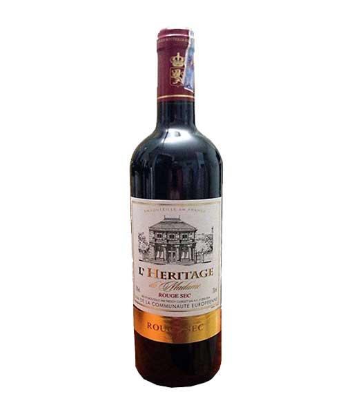 Rượu vang Pháp giá rẻ L' Heritage