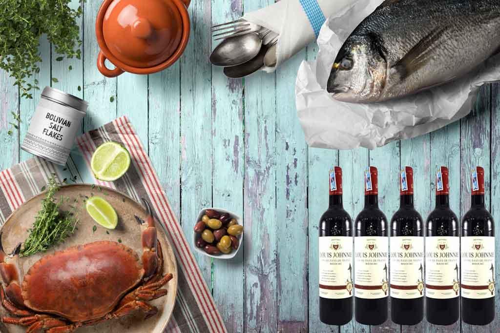 Rượu vang Pháp giá rẻ Louis Johnnie và món ăn ngon