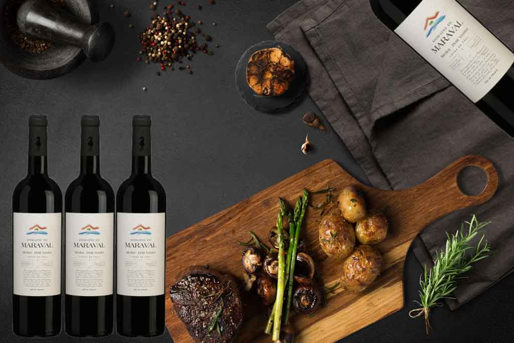 Rượu vang Pháp Maraval và món ăn ngon